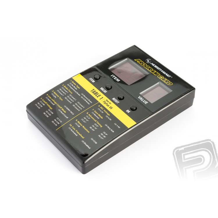 LED Program Card - Platinum ESC