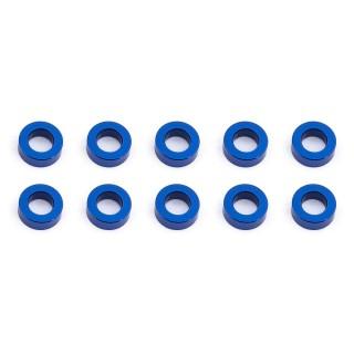Ballstud alátét, 5.5x2.0mm, kék alu, 10 db.