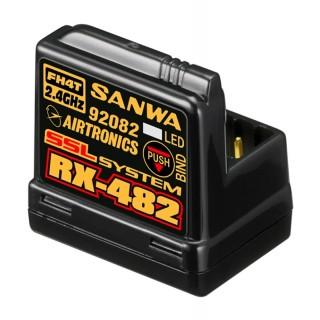 RX-482 vevő 2.4GHz FH3, FH4, 4 csatornás, SSR (telemetriai)