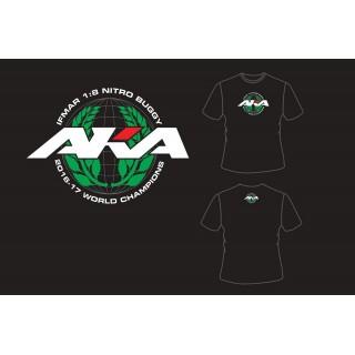 AKA IFMAR WORLD CHAMPIONS tričko černé (XXL) - HANES TAGLESS