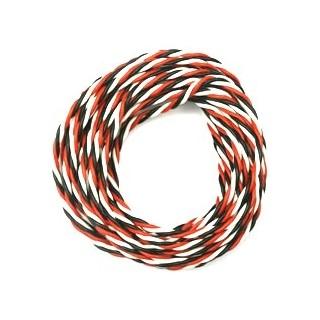 Háromeres szilikonos sodrott kábel - vastag FU 0.5mm2 + 1x fehér kábel