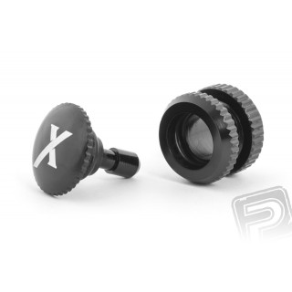 Tankovací ventil (X logo), černý