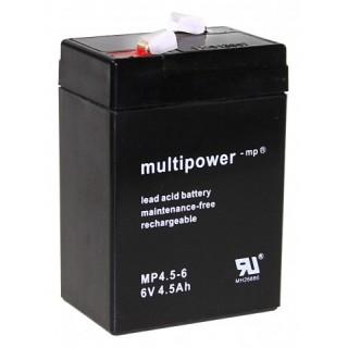 Pb akkumulátor MULTIPOWER 6V/4,5Ah