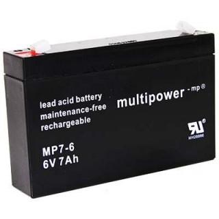 Pb akumulátor MULTIPOWER 6V/7,0Ah