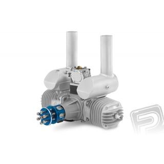 Motor GP 123 ccm V2 včetně tlumiče a příslušenství