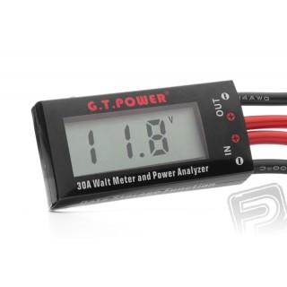 Wattmérő Mini 0-30A