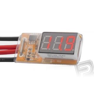 Áram és feszültségmérő 30 A / 25 V-ig