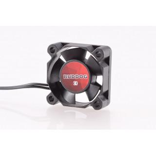 RUDDOG ventilátor 30x30mm, 240mm-es fekete kábel + JR csatlakozó