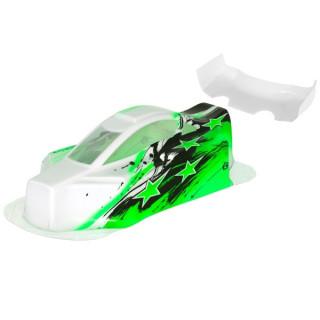 BX10 Bitty design lakkozott lexan karosszéria, zöld
