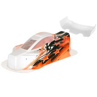 BX10 Bitty design lakkozott lexan karosszéria, narancssárga