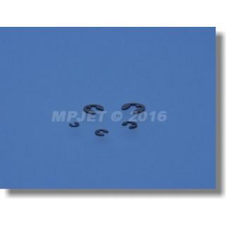 0751 Pojistný třmenový kroužek 1,9mm 10ks