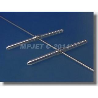 2554 Hmoždinkový závěs 4,5x70mm pro drát 2ks