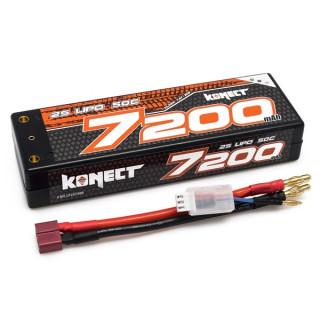 KONECT LiPo 7200mah 7.4V 50C 2S1P 38,4Wh (T-Dean )