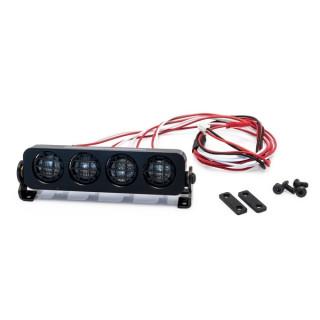 Hliníková světlená rampa, kulaté reflektory - 90mm