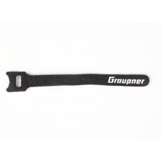 Stahovací pásek suchým zipem 150mm GRAUPNER , černý (10ks)