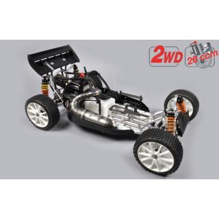 FG Leopard 2020 Competition Buggy, 2WD, čirá karoserie + centrální hydr. brzda