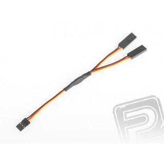 """4701 S """"Y""""-kábel JR lapos, erős, rövid (15cm)"""