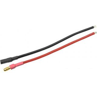 Konektor zlacený 3.5mm s kabelem kabel 14AWG 10cm (1 pár)