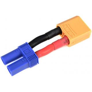 Konverzní kabel EC5 samec - XT-90 samice 10AWG