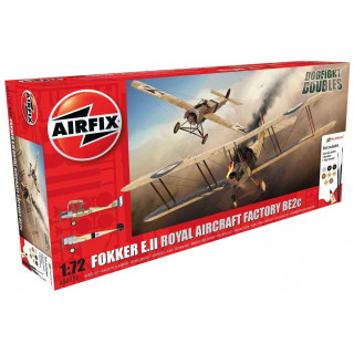 Gift Set letadlo A50177 - Fokker EII/BE2C Dog Fight Double (1:72)
