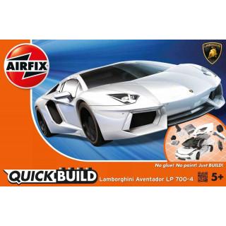 Quick Build auto J6019 - Lamborghini Aventador - bílá