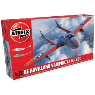 Classic Kit letadlo A02058A - deHavilland Vampire T.11 / J-28C (1:72)