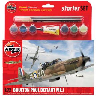 Starter Set letadlo A55213 - Starter Set Boulton Paul Defiant (1:72) - nová forma