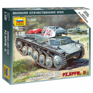 Wargames (WWII) tank 6102 - German Panzer II (1:100)
