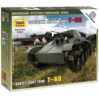Wargames (WWII) tank 6258 - T-60 Soviet Light Tank (1:100)