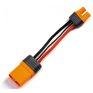 Spektrum átalakító kábel IC5 eszköz - IC3 akku 10cm 10 AWG