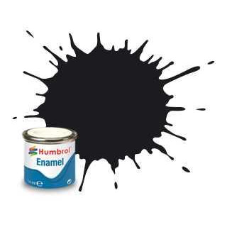Humbrol barva email AA0360 - No 33 Black - Matt - 14ml