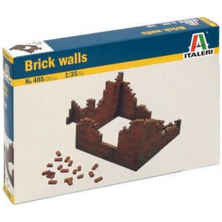 Model Kit budova 0405 - BRICK WALLS (1:35)
