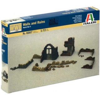 Model Kit doplňky 6087 - WALLS AND RUINS (1:72)