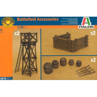 Model Kit doplňky 6870 - ARTILLERY POSITION ACCESSORIES (1:32)