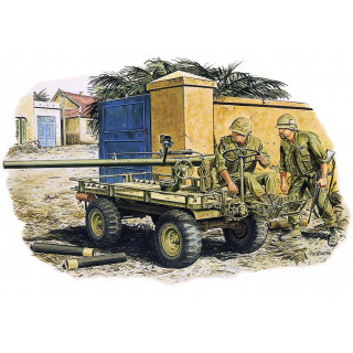 Model Kit figurky 3315 - M274 MULE w/106mm R.R. & CREW (HUE CITY 1968) (1:35)