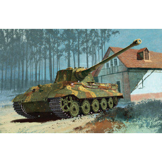 Model Kit tank 6209 - KINGTIGER HENSCHEL TURRET LAST PRODUCTION w/TRANSPORT TRACK (1:35)
