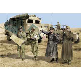 Model Kit figurky 6723 - ROMMEL AND HIS STAFF (N. AFRICA 1942) (1:35)