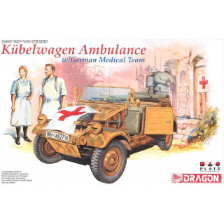 Model Kit military 6336 - KUEBELWAGEN AMBULANCE w/ GERMAN MEDICAL TEAM (1:35)