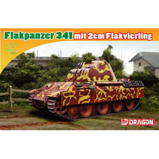 Model Kit tank 7487 - FLAKPANZER 341 mit 2cm FLAKVIERLING (1:72)
