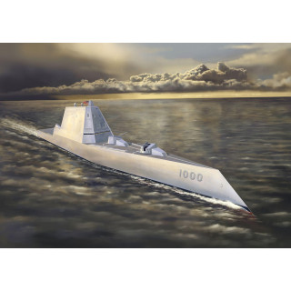 Model Kit ponorka 7141 - USS ZUMWALT CLASS DESTROYER DDG-1000 (1:700)