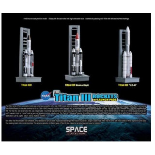 Space Collection rakety 56395 - TITAN III ROCKETS w/LAUNCH PADS (1:400)