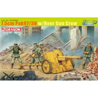 Model Kit military 6443 - 7.5CM PAK 97/38 W/HEER GUN CREW (1:35)