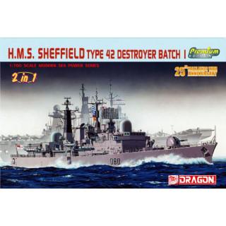 Model Kit loď 7071 - H.M.S. SHEFFIELD TYPE 42 DESTROYER BATCH 1 (1:700)
