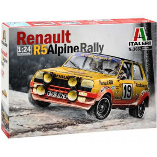 Model Kit auto 3652 - RENAULT R5 ALPINE RALLY (1:24)
