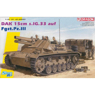 Model Kit tank 6904 - DAK 15cm s.IG.33 auf Fgst.Pz.III (Smart Kit) (1:35)