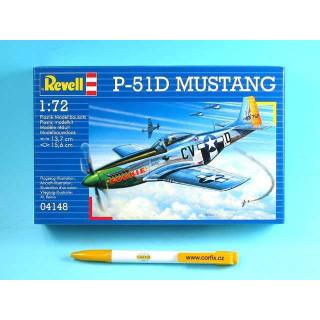 Plastic ModelKit letadlo 04148 - P-51D MUSTANG (1:72)