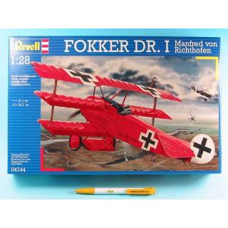 Plastic ModelKit letadlo 04744 - Fokker Dr.I 'Richthofen' (1:28)