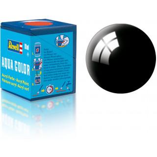Barva Revell akrylová - 36107: leská černá (black gloss)