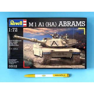 Plastic ModelKit tank  03112 - M 1 A1 (HA) ABRAMS (1:72)