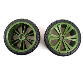 REVELL - REVELLUTIONS (47028) - Set 2x Rear Wheel for Buggy, green
